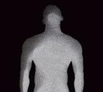 """Fotograma de Henry Focault """"Hombre de negro"""" Exposición """"El hombre al desnudo"""" MUNAL. Foto propiedad intelectual de Henry Focault"""